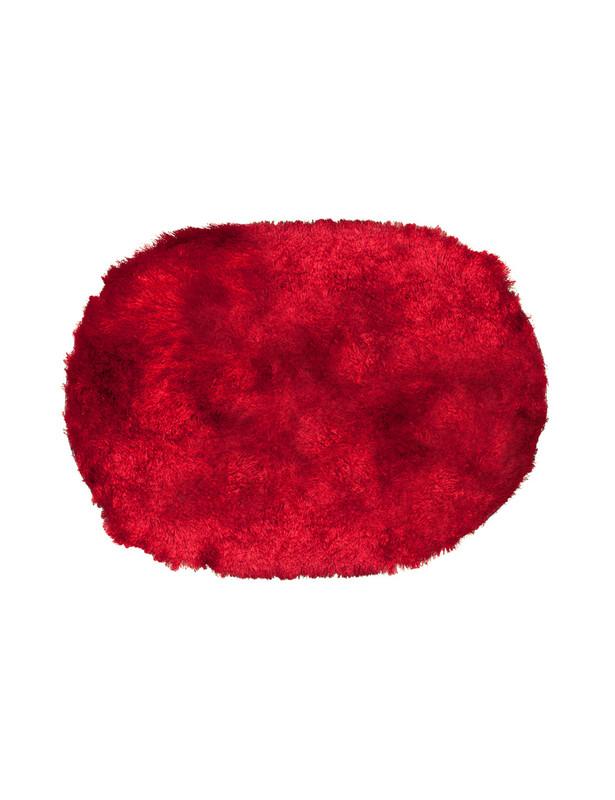 【杜鹃花椭圆形门垫 红色
