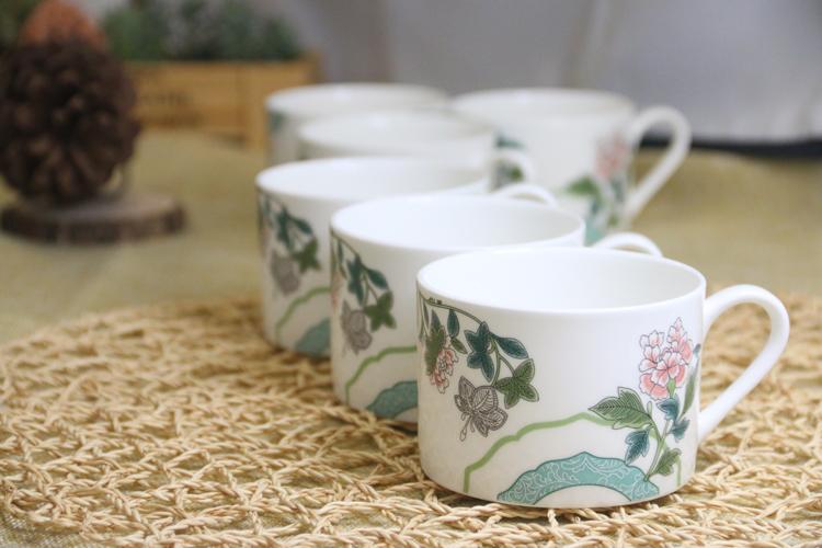 骨瓷咖啡杯碟六套组-京剧系列